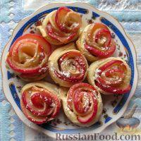 Фото приготовления рецепта: Слоеные розочки с яблоком - шаг №6