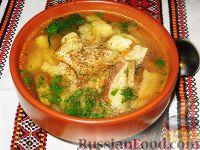 Фото к рецепту: Суп с белыми грибами и картофельными галушками