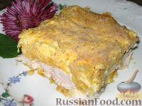 Фото к рецепту: Запеканка из курицы, тыквы и сыра