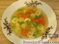 Фото к рецепту: Куриный суп с яичными блинчиками