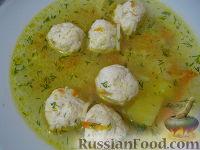 Фото к рецепту: Суп с фрикадельками и вермишелью