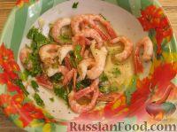 Фото приготовления рецепта: Салат с креветками и помидорами - шаг №5