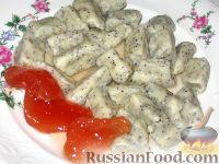 Фото к рецепту: Творожные галушки с маком