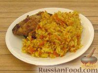 Фото к рецепту: Рис карри с морковкой