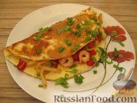 Фото к рецепту: Омлет с морепродуктами