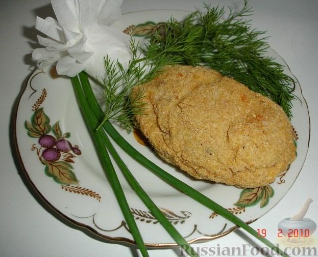 Рецепт Куриные котлеты в кукурузной панировке