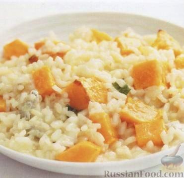 Рецепт Ризотто с тыквой и сыром