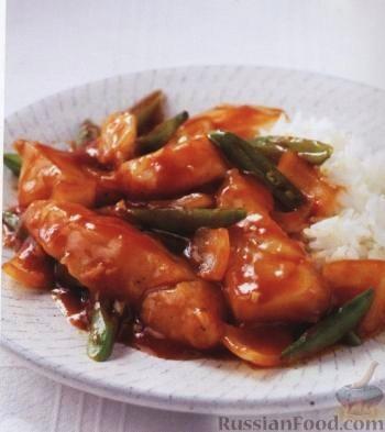 Рецепт Рыба в кисло-сладком соусе с имбирем