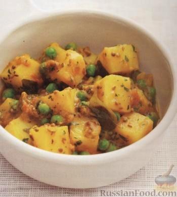Рецепт Карри из картошки с горошком