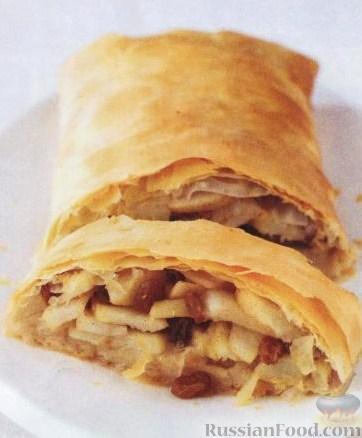 Рецепт Штрудель с грушами и корицей
