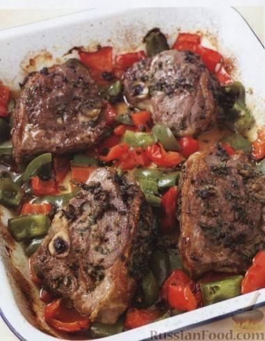 Рецепт Баранина с грибами и сладким перцем