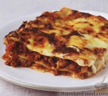 Рецепт Лазанья с мясом и помидорами