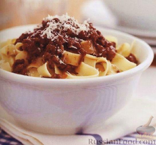 Рецепт Лапша «тальятелле» с мясным соусом