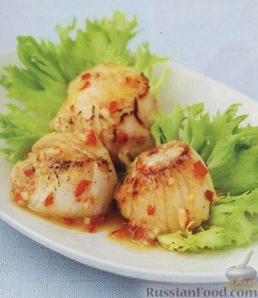 Рецепт Жареные гребешки с перцем чили