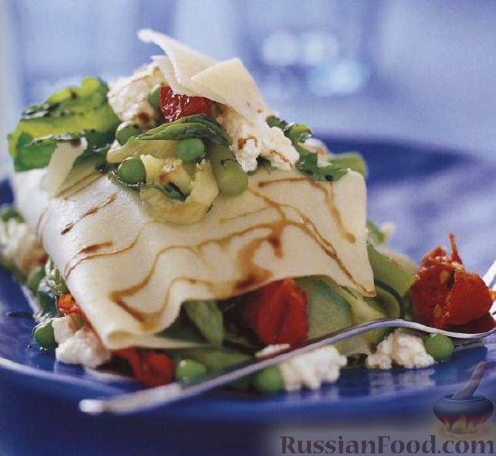 Рецепт Лазанья со свежими овощами