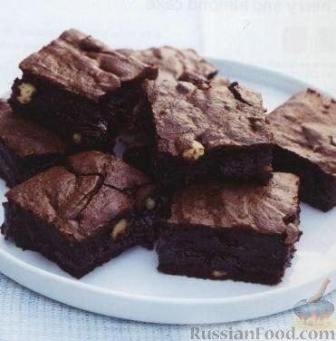 Рецепт Шоколадные пирожные (печенье брауни) с лесными орехами