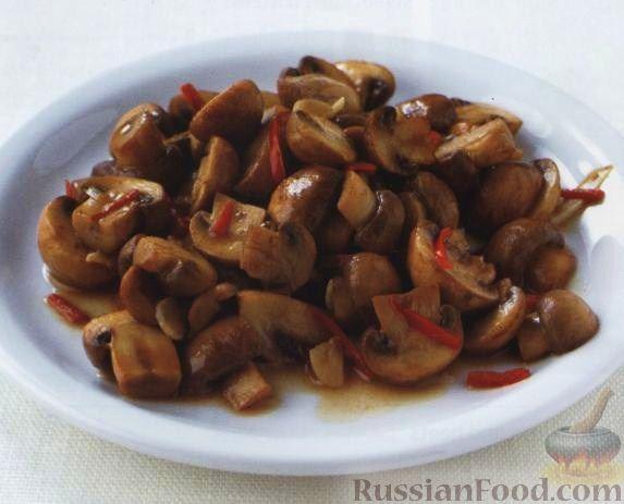 Рецепт Грибы в чесночном соусе