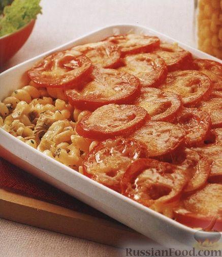 Рецепт Паста (макароны-рожки) с помидорами и артишоками