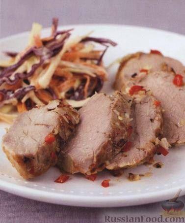 Рецепт Свинина с перцем, имбирем и соевым соусом