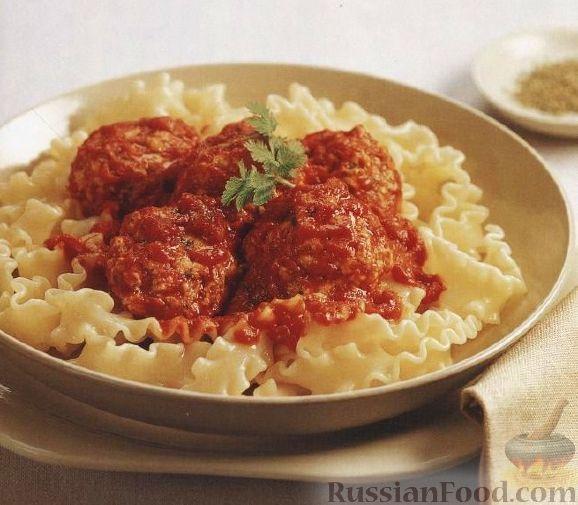 Рецепт Паста лазаньетте с куриными тефтелями