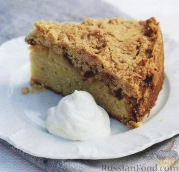 Рецепт Пирог с яблоками, изюмом и корицей