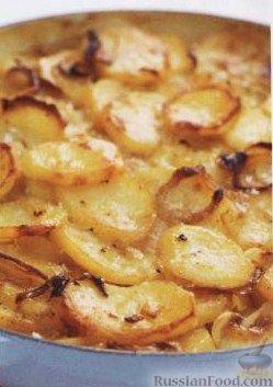 Рецепт Картофель, запеченный с луком и чесноком