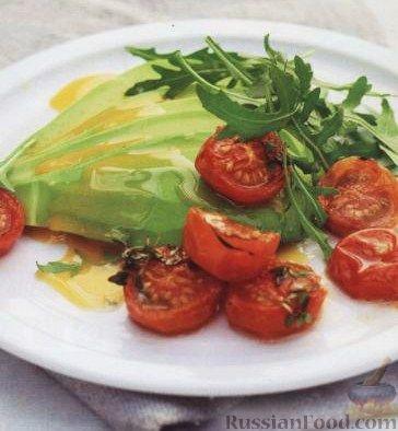 Рецепт Авокадо с печеными помидорами