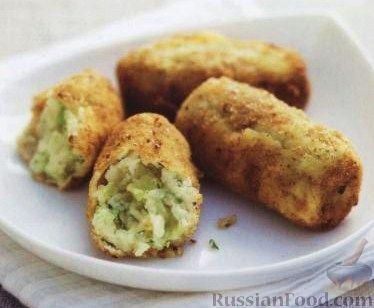 Рецепт Крокеты из картофеля с луком-пореем