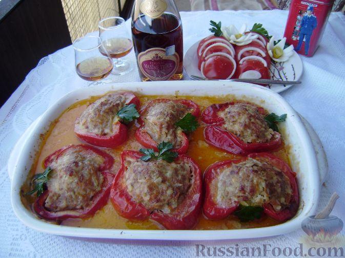 Рецепт Паприка фаршированная (сладкий перец фаршированный)