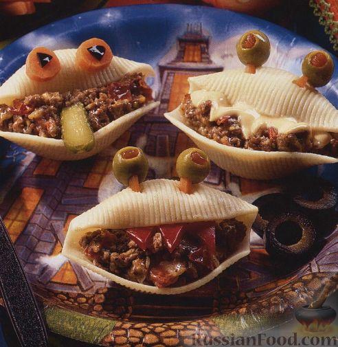 Рецепт Макароны-ракушки фаршированные