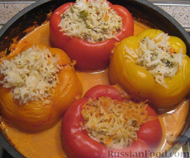 фаршированный перец рецепт с фото в духовке