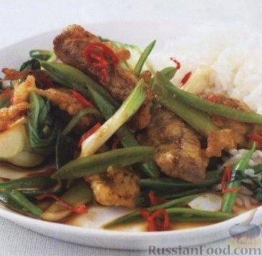 Рецепт Хрустящая жареная говядина с овощами