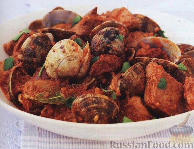 Рецепт Катаплана со свининой и моллюсками