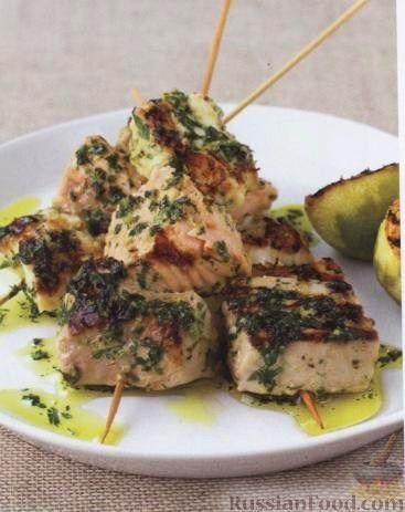 Рецепт Шашлыки из рыбы