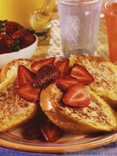Рецепт Французские тосты с клубникой и корицей