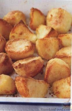 Рецепт Вкусная картошка, жаренная в духовке