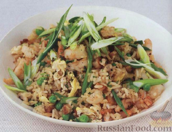 Рецепт Рис с курицей и креветками