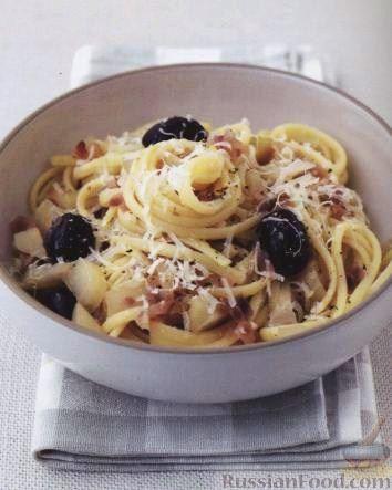 Рецепт Паста (макароны) с фенхелем и оливками