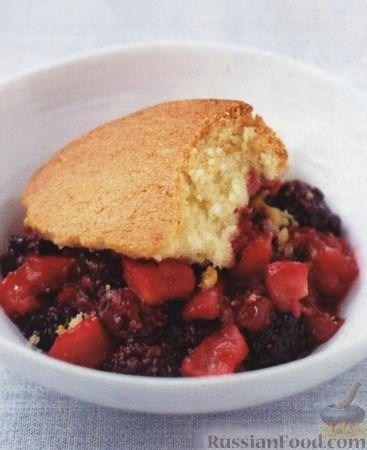 Рецепт Пирог с ежевикой и яблоками