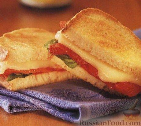 Рецепт Горячий бутерброд (сэндвич) со сладким перцем и сыром