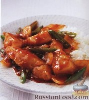 Фото к рецепту: Рыба в кисло-сладком соусе с имбирем