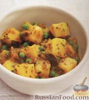 Фото к рецепту: Карри из картошки с горошком