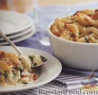 Фото к рецепту: Макароны-«ракушки» с ветчиной и сыром