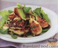 Фото к рецепту: Жареный сыр Халуми с инжиром