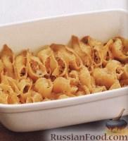 Фото к рецепту: Паста конкильоне (макароны-ракушки) с лососем и сыром
