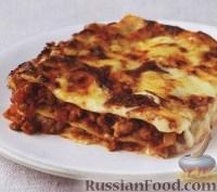Фото к рецепту: Лазанья с мясом и помидорами