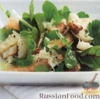 Фото к рецепту: Салат из мяса крабов с грейпфрутом и кинзой