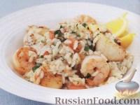 Фото к рецепту: Ризотто с морепродуктами