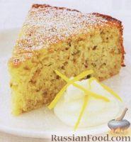 Фото к рецепту: Цитрусовый пирог с орехами