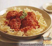 Фото к рецепту: Паста лазаньетте с куриными тефтелями